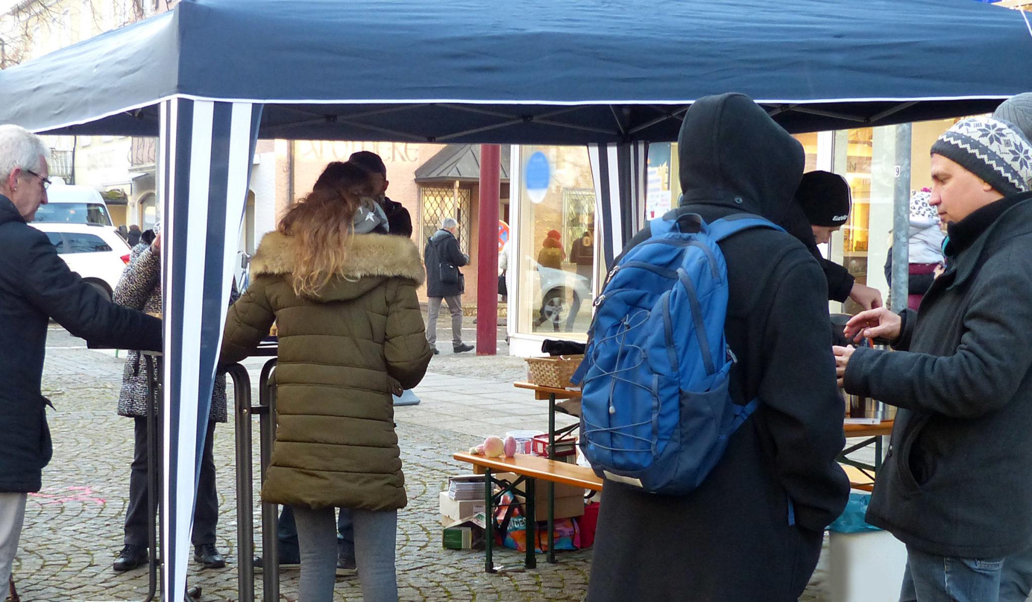 Infoveranstaltung in der Fußgängerzone