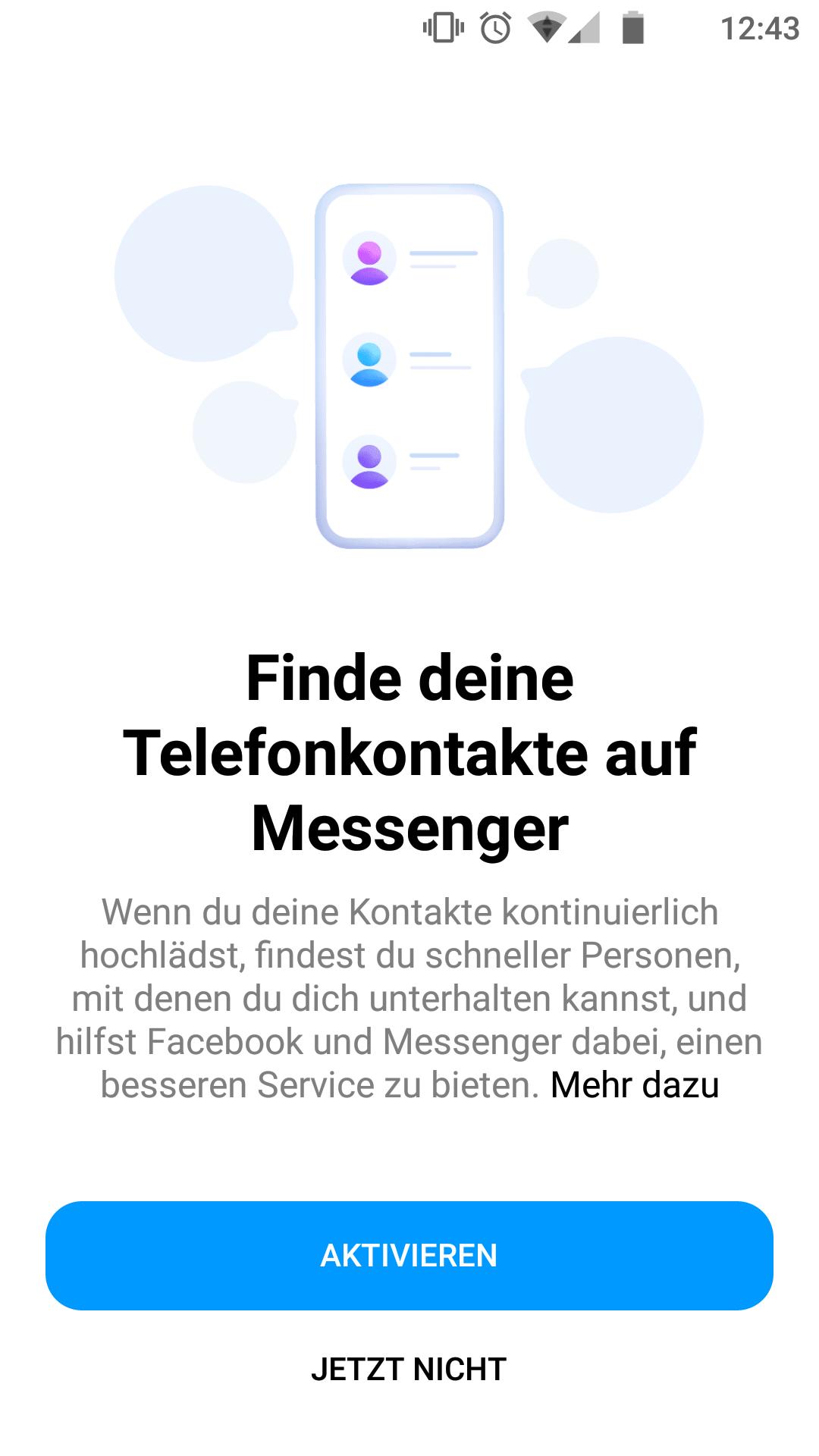 Telefonkontakte verknüpfen (muss aber nicht sein).