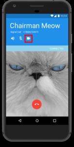 Der Videobutton auf einem Androidhandy